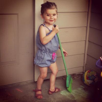 Sweeping toddler www.thebrighterwriter.blogspot.com
