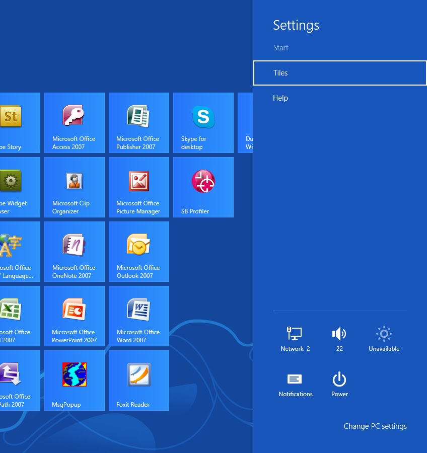Windows 8 Basic Keyboard Shortcuts - Settings
