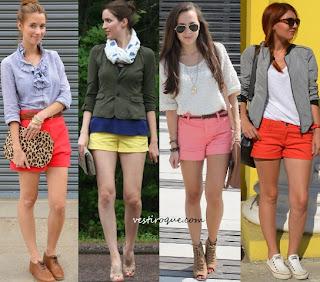 Die Shorts sind gefärbt, um die kommenden Saisons markieren