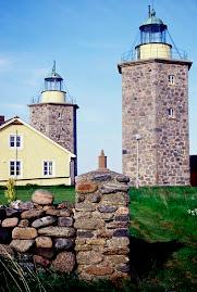 Anciens phares de Nidingen (Suède)