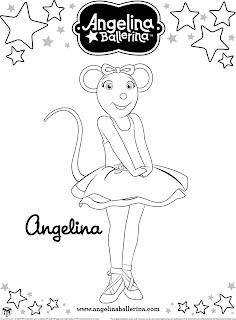 Angelina Ballerina Colorir