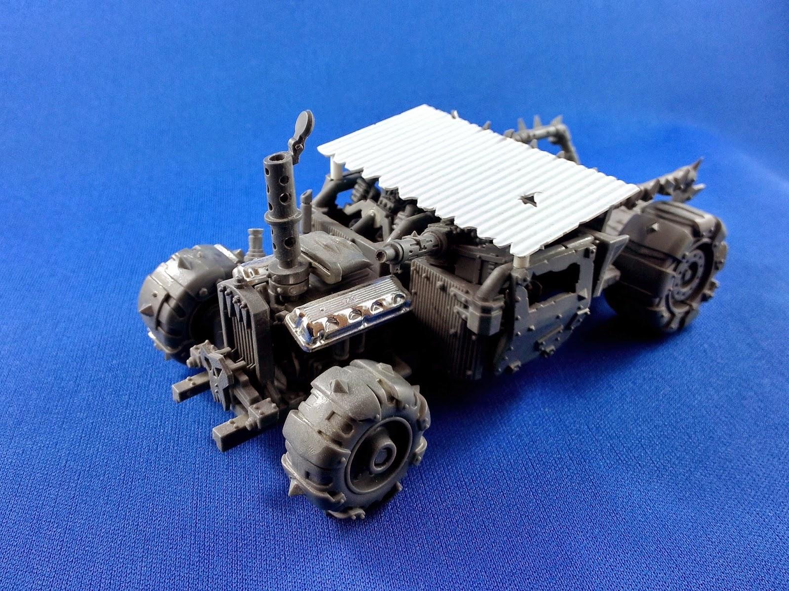 The Miniature Apocalypse: Ork Trukk - Rat Rod conversion part 1