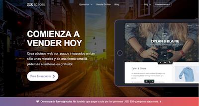 Crea tu propia tienda online gratis para vender por Internet con Go Spaces
