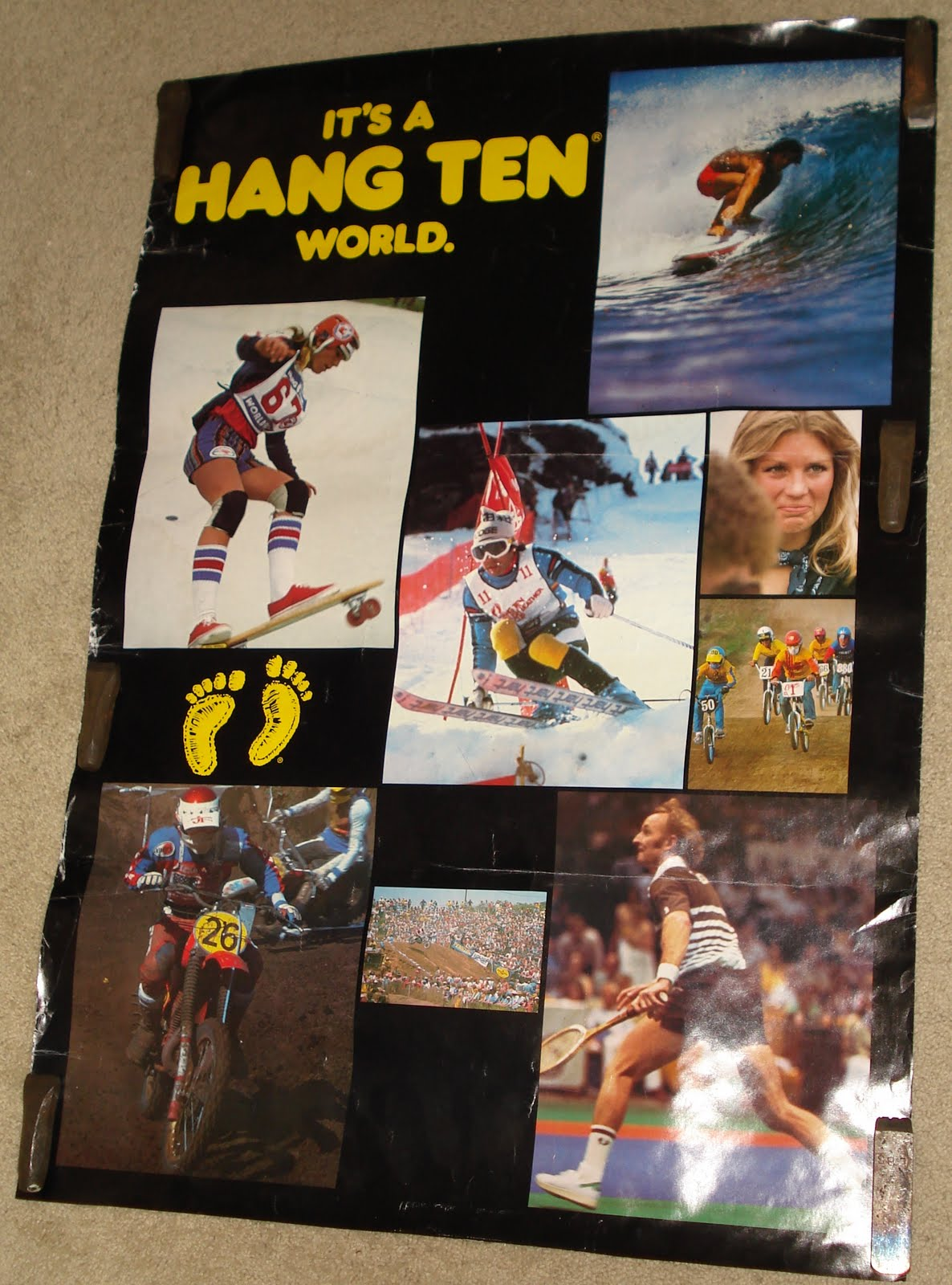 nostalgia on wheels late 70 39 s early 80 39 s hang ten poster. Black Bedroom Furniture Sets. Home Design Ideas