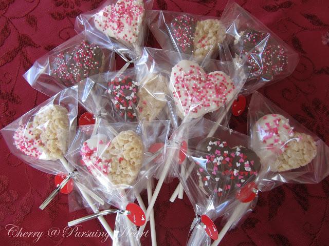 Valentine Krispie Hearts