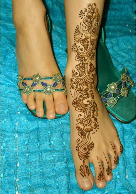 Feet Mehndi For Eid : New feet mehndi design for eid fashion world