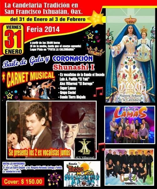 baile de gala feria ixhuatan 2014