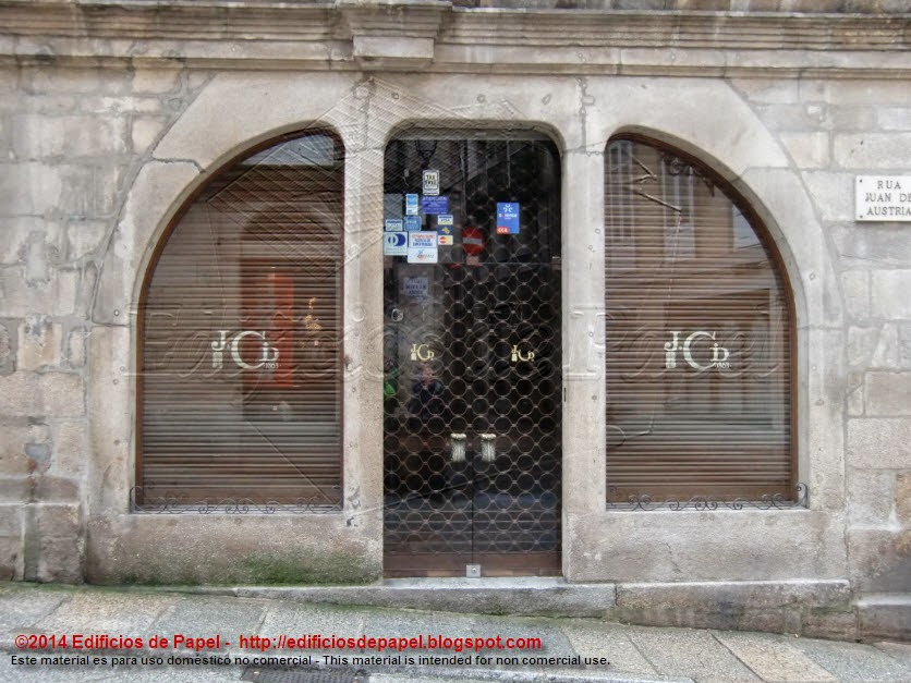 Planta baja de la catedral de Ourense - 1918 - Vázquez Gulías