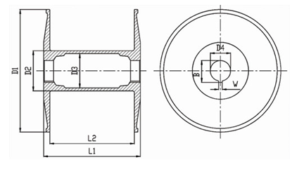 Beam size drawing
