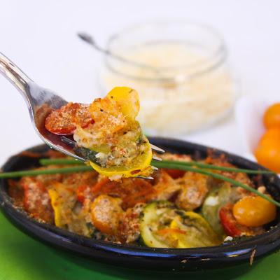 parmesan zucchini gratin @ menumusings.com