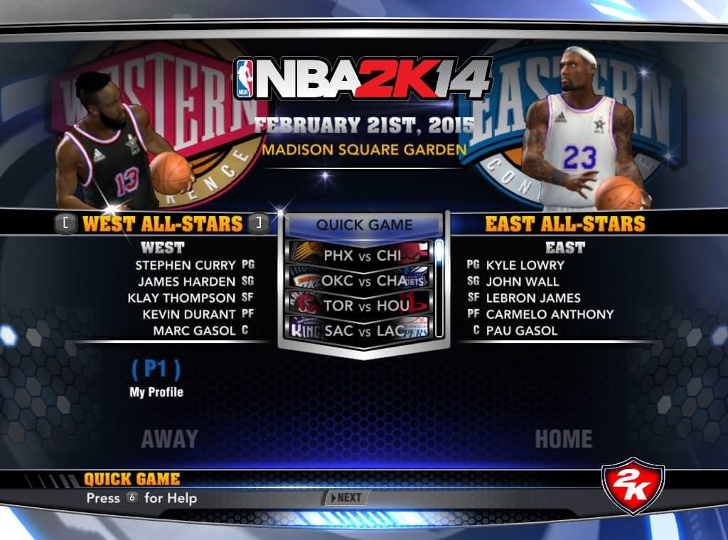 NBA 2k14 Custom Roster Update v4 : February 21st, 2015 - Trade Deadline and All-Star