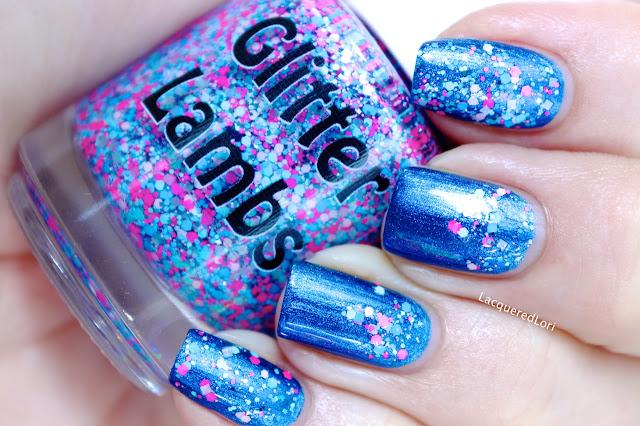 "Glitter Lambs ""Imagination Land"" Glitter Topper Nail Polish  by @LacqueredLori"