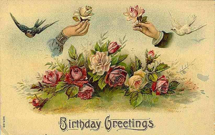 Carte postale ancienne Bon anniversaire