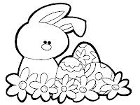 coelho com ovos e flores