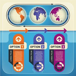 インフォグラフィックス テンプレート Infographic elements set illustration イラスト素材