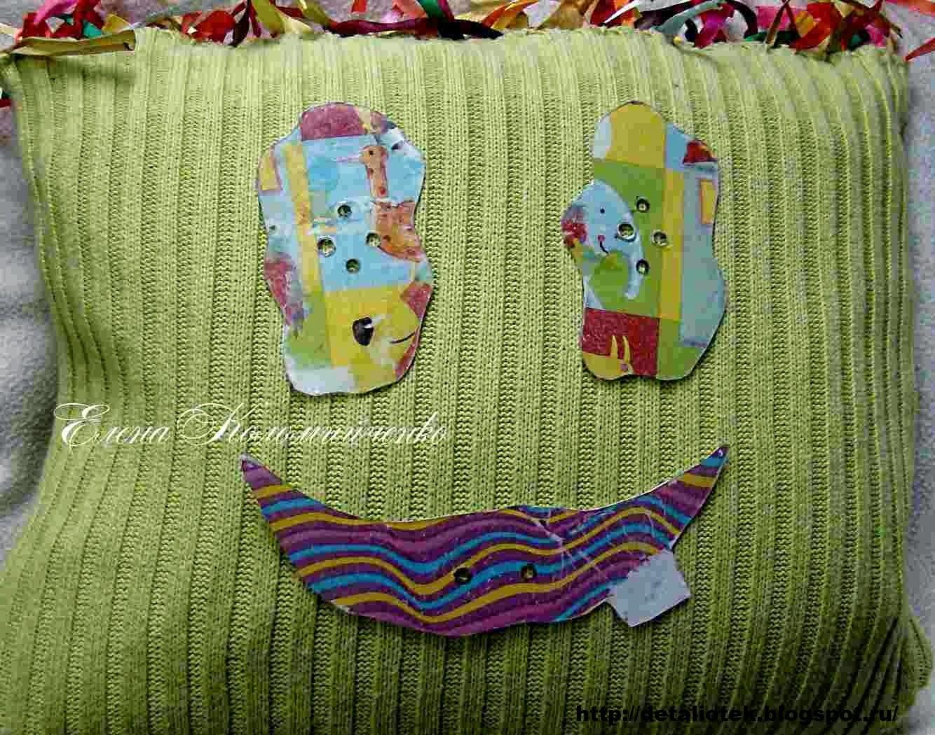 Подушки из старого свитера - 50 прекрасных идей 53