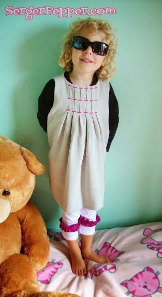 Eriqua pleats Dress Pattern