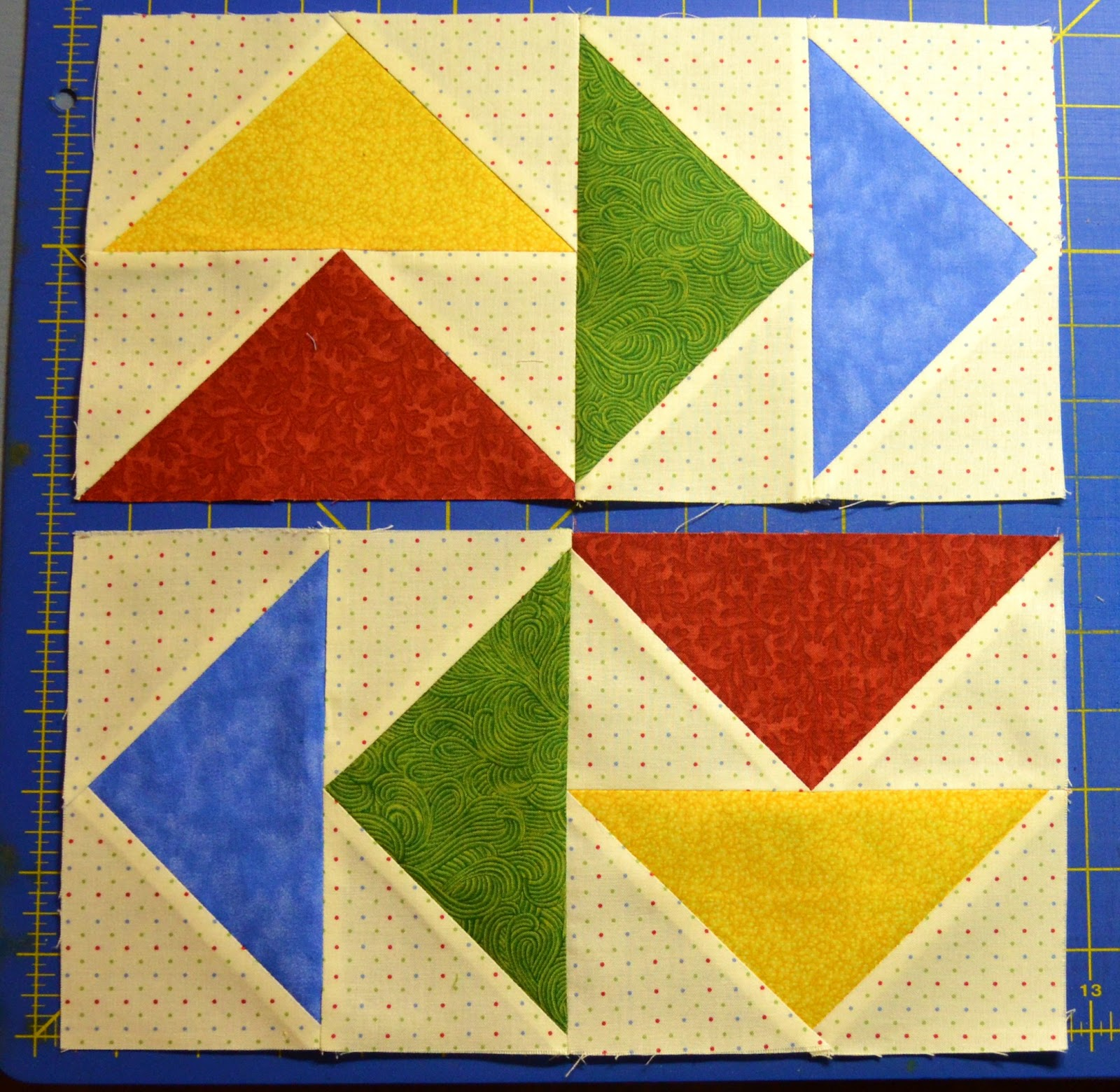 Fold And Sew Quilt Blocks