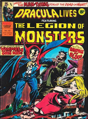 Marvel UK, Dracula Lives #63, Legion of Monsters