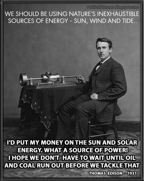 Quote Meme | Political Memes Thomas Edison Solar Energy Quote