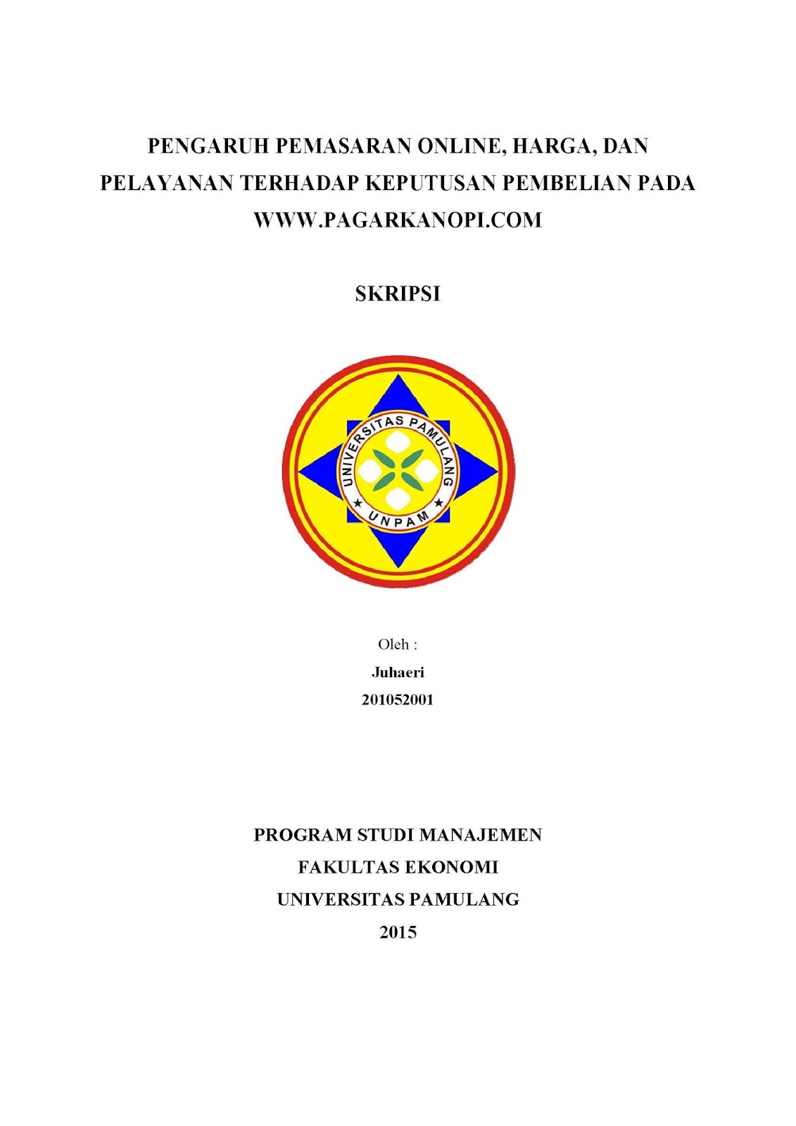Contoh Proposal Thesis