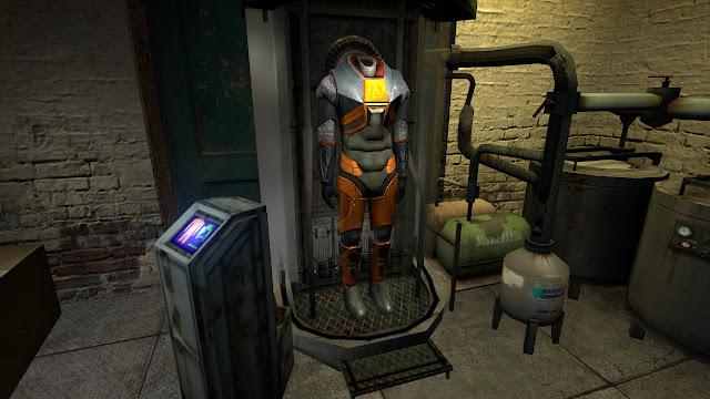 Half-Life 2 HEV suit Kleiner's lab