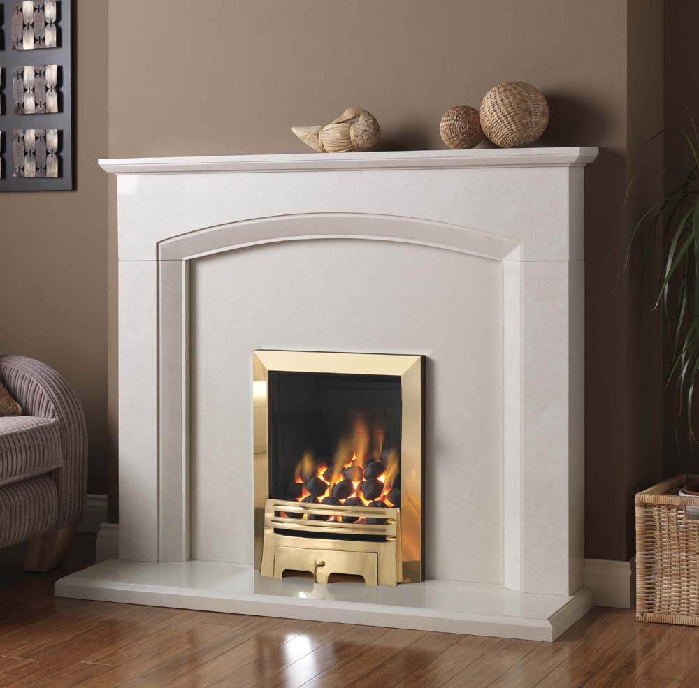 Gas Fires Electric Fires Flueless Fires And Fireplaces Pure Glow Perla Marble