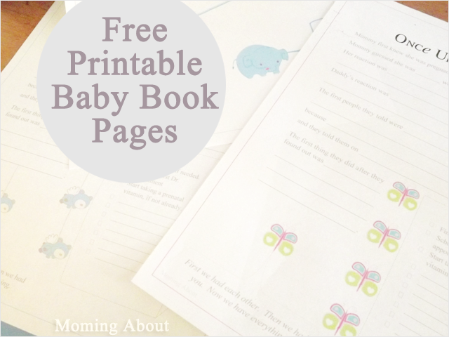 image about Free Printable Baby Book Pages named Moming Above: Absolutely free Little one Guide Printables Component 1