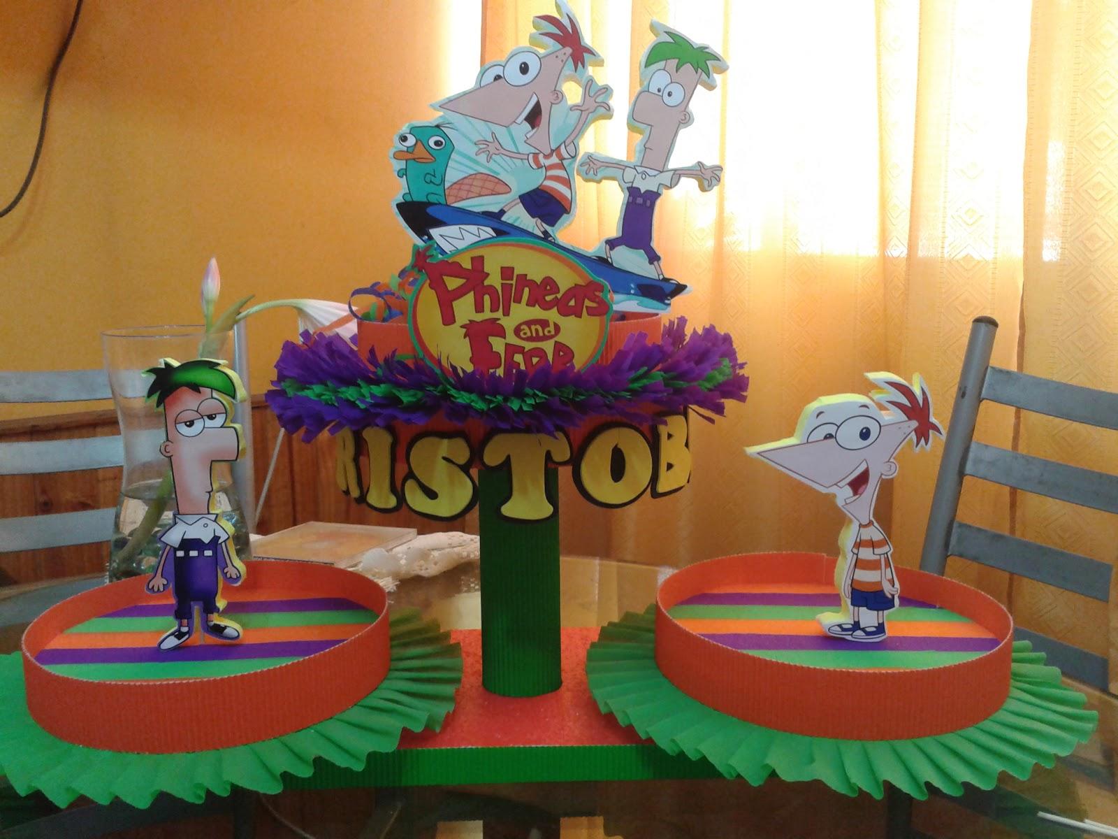 Decoración de fiestas infantiles de phineas y ferb - Imagui