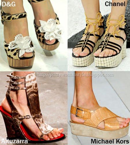обувки на платформа пролет-лято 2011