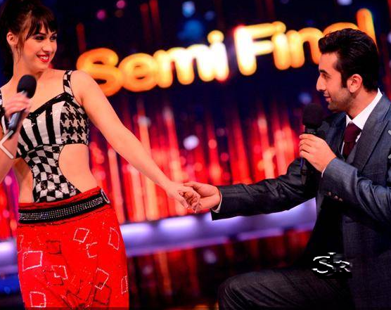 Ranbir Kapoor with Lauren in Jhalak