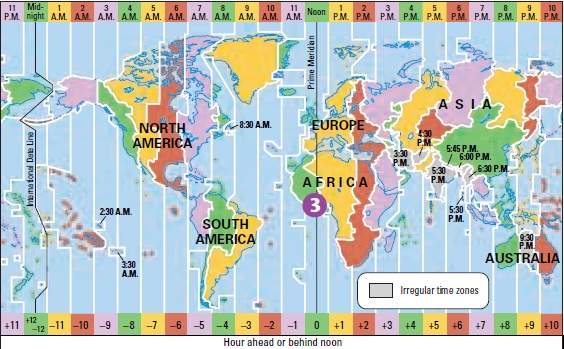 Andrew\'s Blog: Reading a Time Zone Map