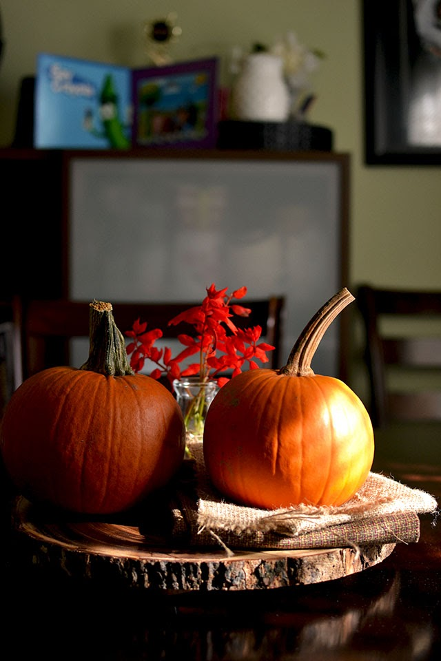 Table Decoration with Pumpkin