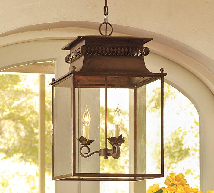 Foyer Lighting Pottery Barn : Choosing a hanging lantern pendant for the kitchen