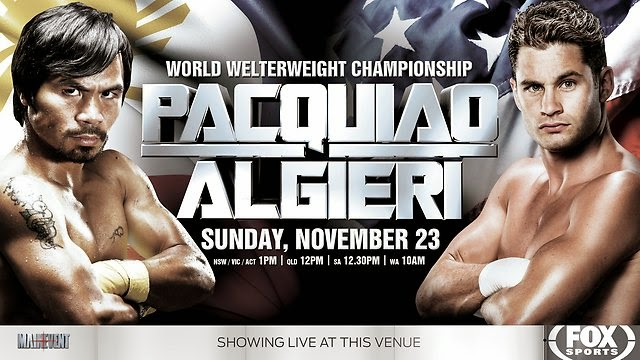 Manny Pacquiao vs Chris Algieri Livestreaming