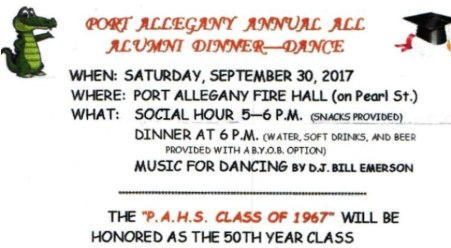 9-30 Port Allegany All Alumni Dinner/Dance