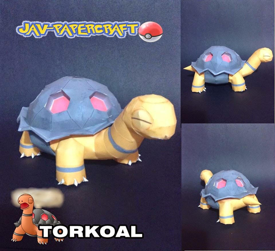 Pokemon Torkoal Papercraft