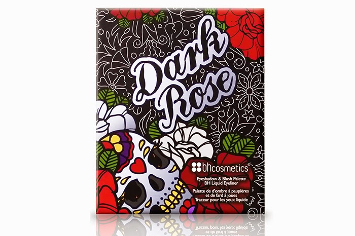 BH Cosmetics: Dark Rose Eyeshadow, Blush and Liquid Eyeliner Palette