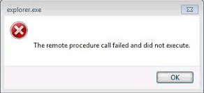 The remote procedure call failed
