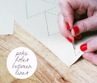 Como fazer bordado em papel passo a passo