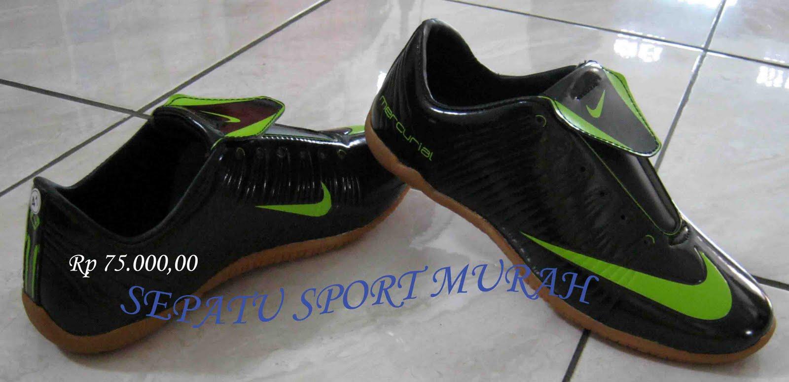 Sepatu Sport Murah: SEPATU FUTSAL NIKE MERCURIAL HITAM-HIJAU