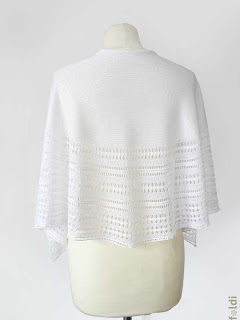 machine knitting passap bamboo lace scarf shoulderette
