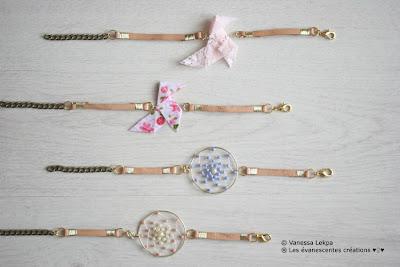 origami bracelet cocotte tissu attrape rêves fait mains vanessa lekpa evanescentes bijoux poétiques romantiques ethnique