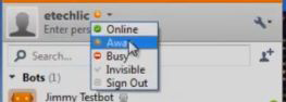 nimbus status list with online busy invisible