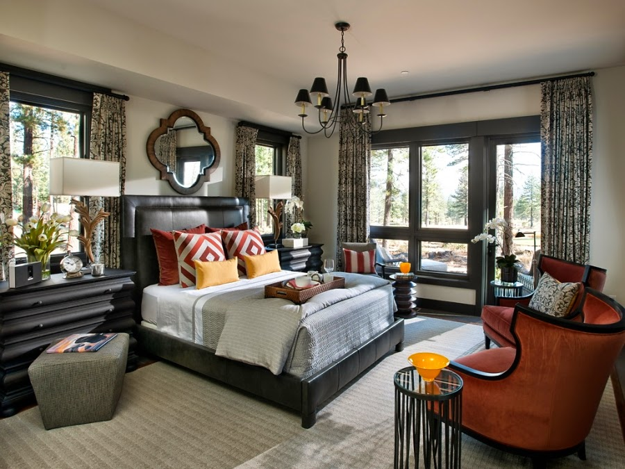dom, wnętrza, wystrój wnętrz, dom drewniany, duże okna, styl klasyczny, sypialnia