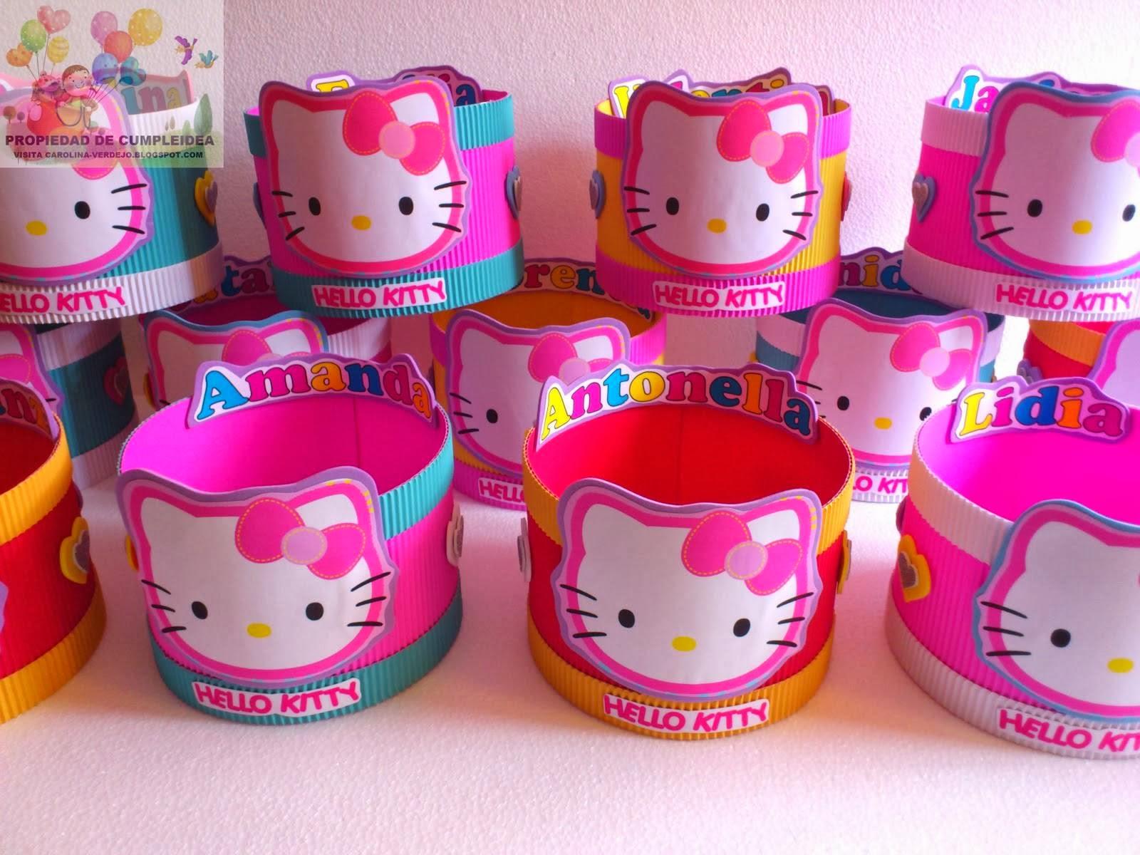 amazing decoracion de hello kitty para cumpleaos with como hacer adornos para cumpleaos