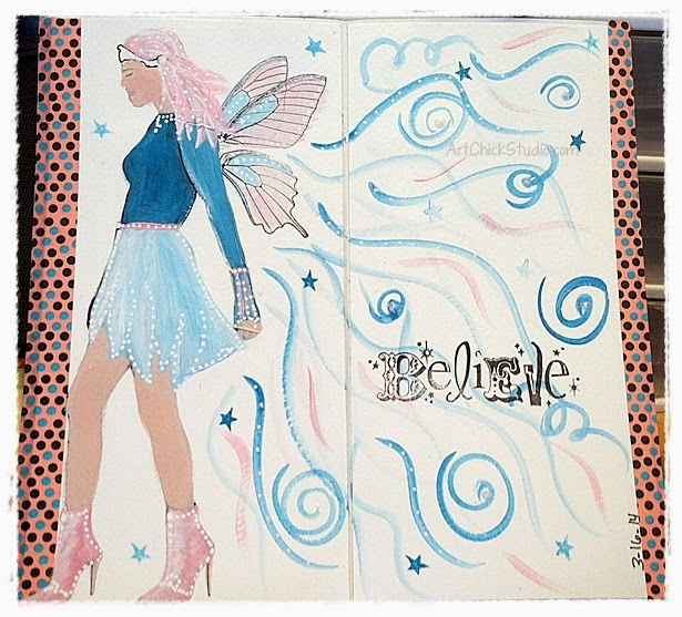 Mag the Fairy Art Journal Page