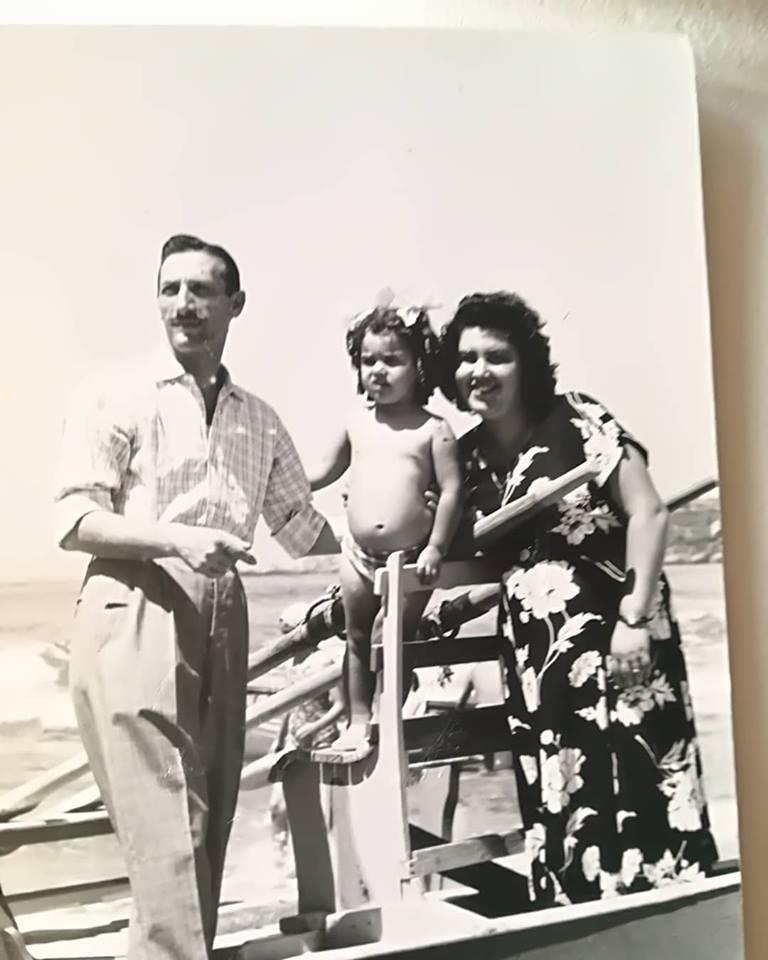con mamma e papà!