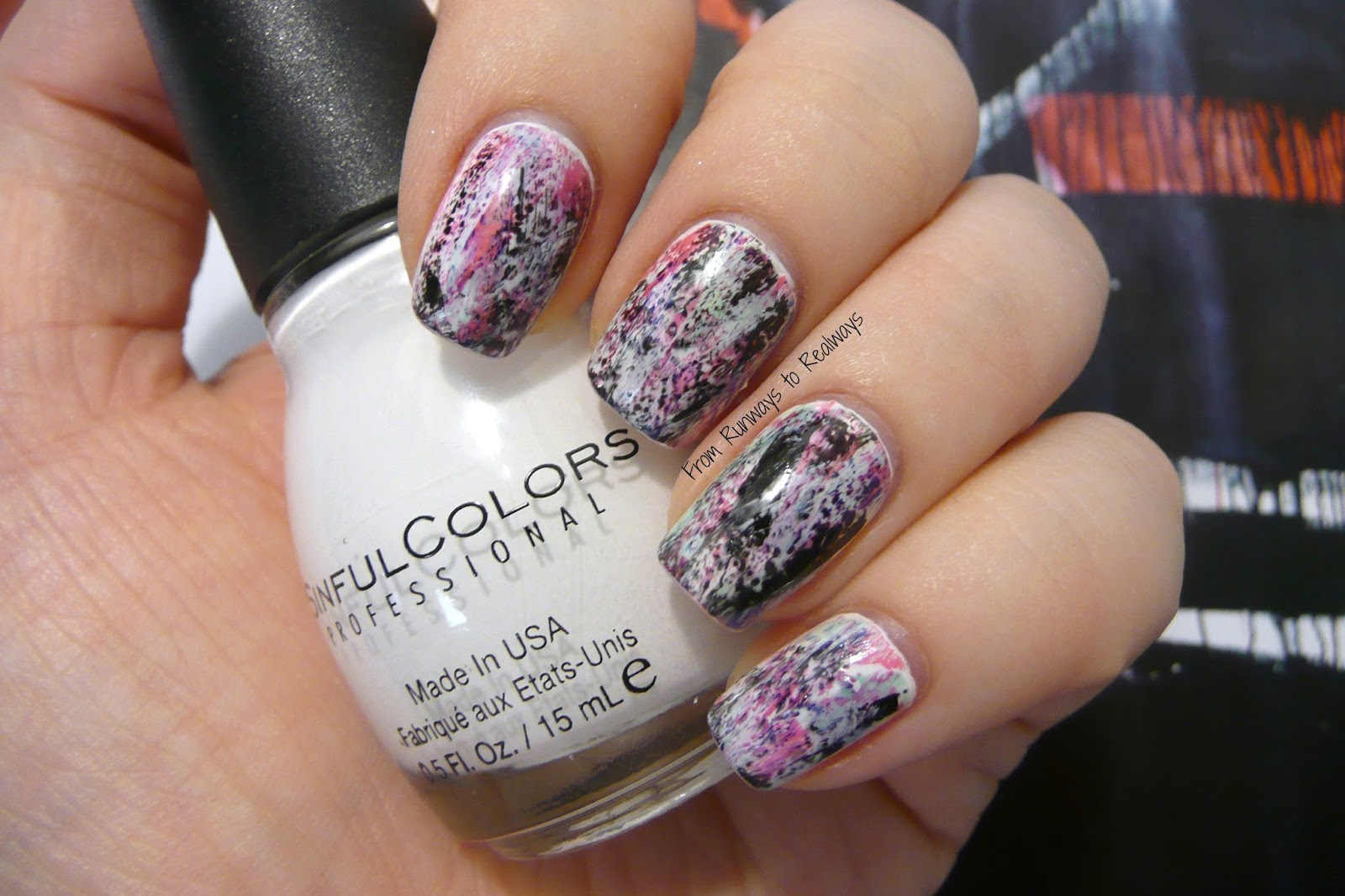 graffiti nail art design