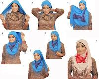 Jilbab Segitiga Simpel Elegan